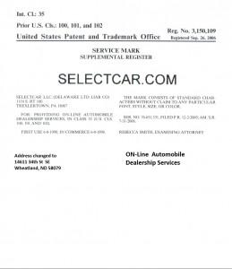 SelectCar.com Federal trademark